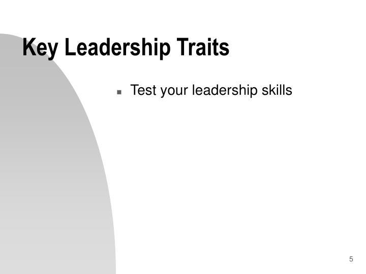 Key Leadership Traits