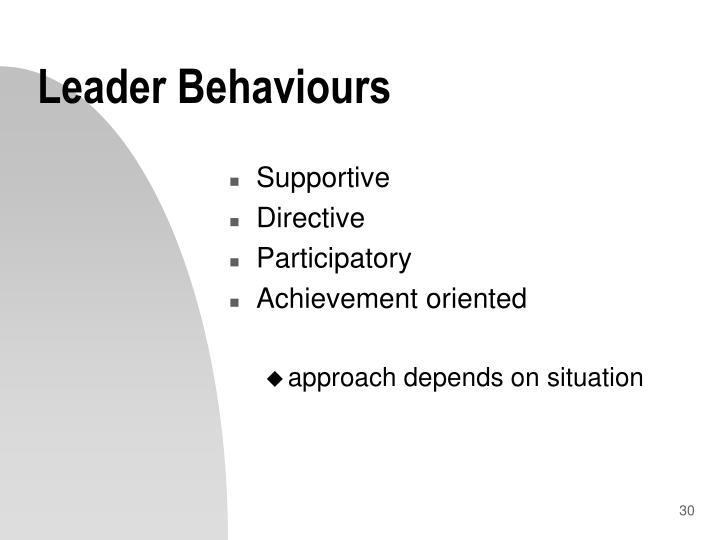 Leader Behaviours