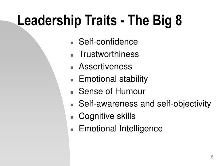 Leadership Traits - The Big 8