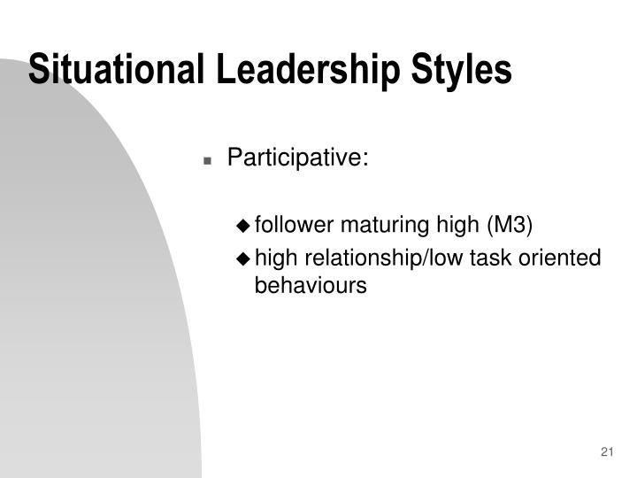 Situational Leadership Styles