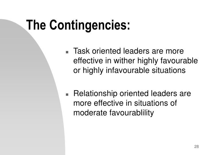 The Contingencies:
