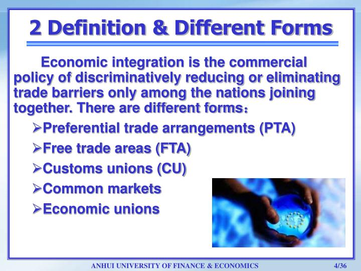 Ppt economic integration customs union and free trade areas 2 definition different forms platinumwayz