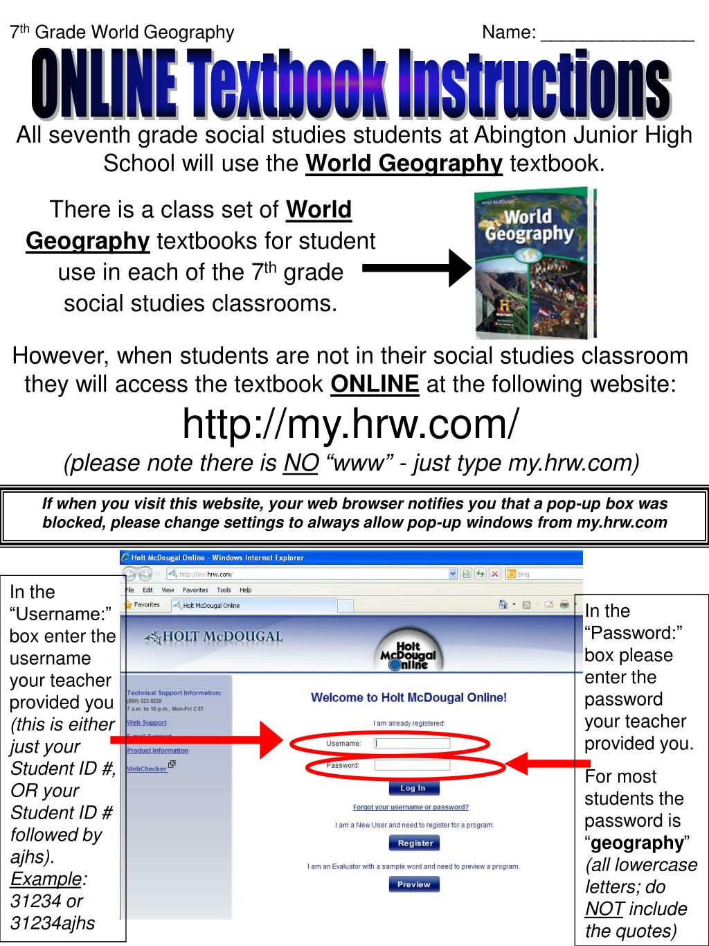 Online Textbooks Social Studies