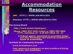 accommodation resources