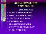 accommodation strategies