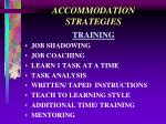 accommodation strategies21