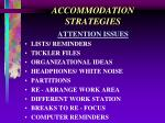 accommodation strategies24