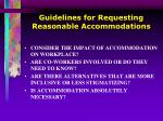 guidelines for requesting reasonable accommodations