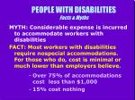 people with disabilities facts myths