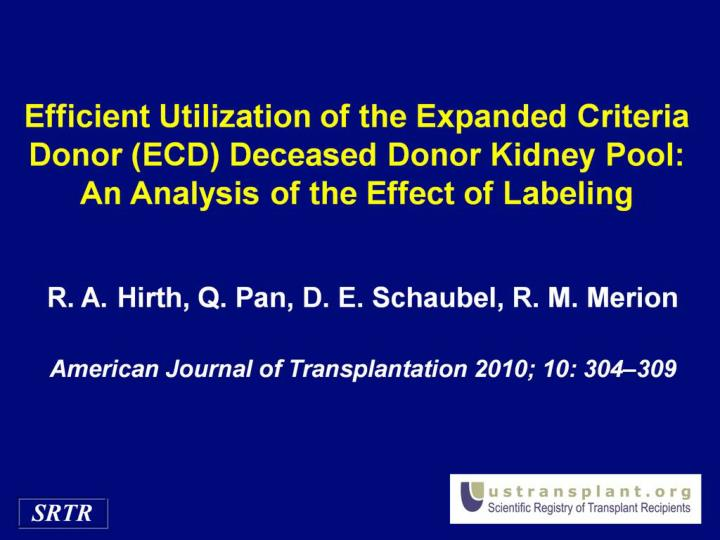 Efficient Utilization of the Expanded Criteria