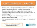coastal medical inc wakefield