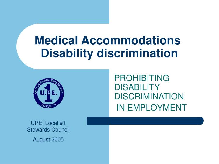 medical accommodations disability discrimination n.