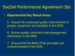 secdef performance agreement 3b