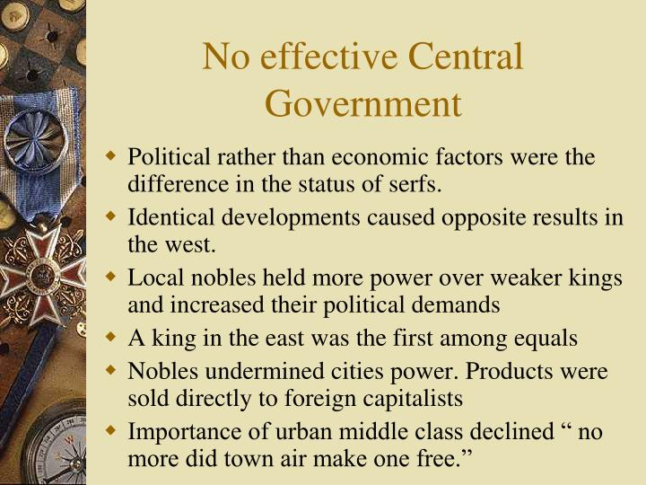 No effective Central Government