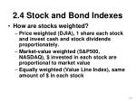 2 4 stock and bond indexes