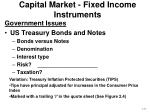 capital market fixed income instruments