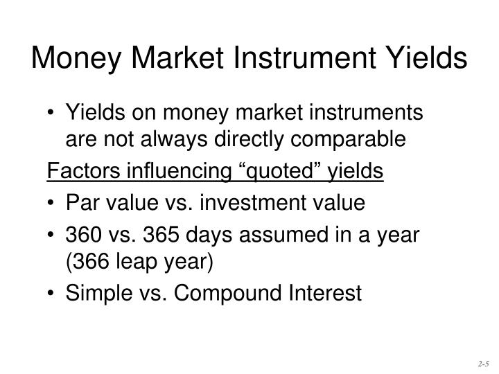 Money Market Instrument Yields