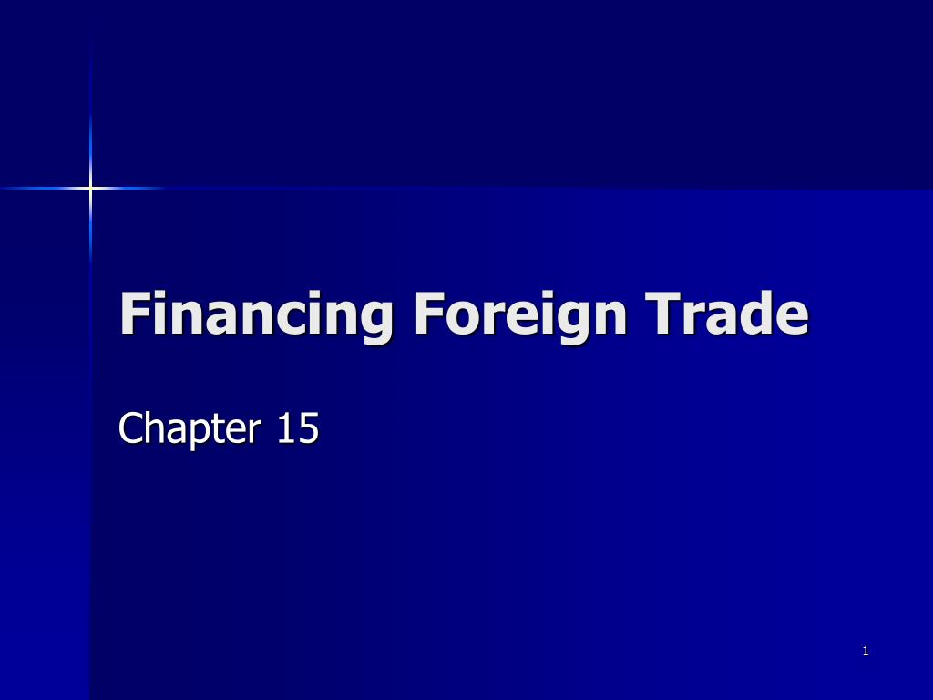 financing foreign trade l.