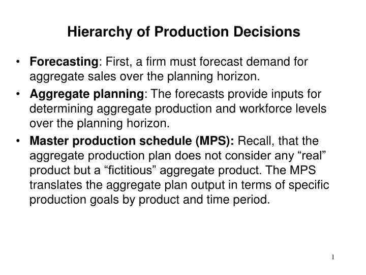 PPT - Forecasting : First, a firm must forecast demand for