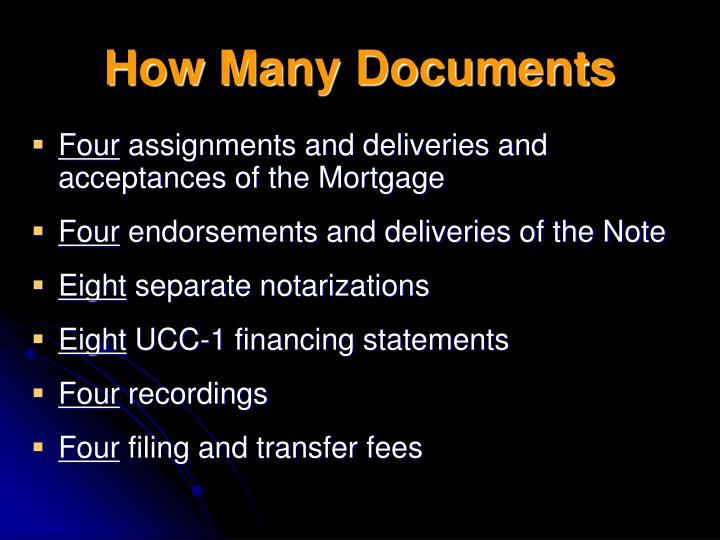 How Many Documents