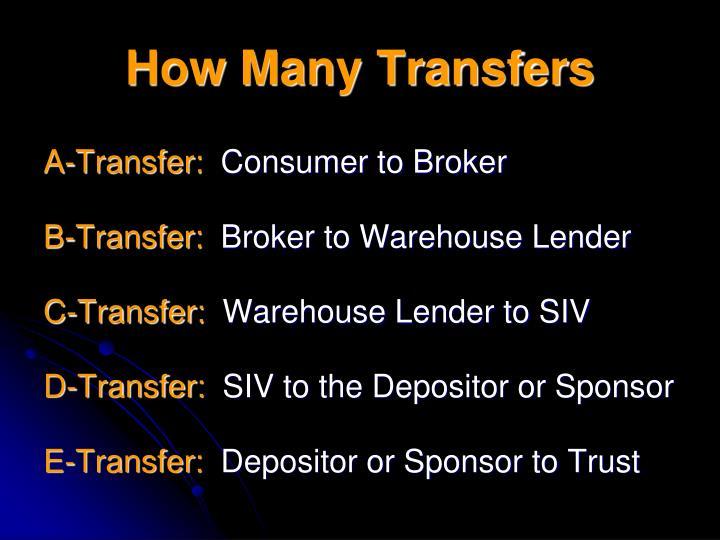 How Many Transfers