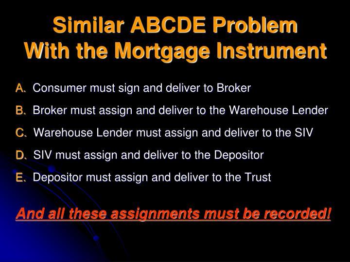Similar ABCDE Problem