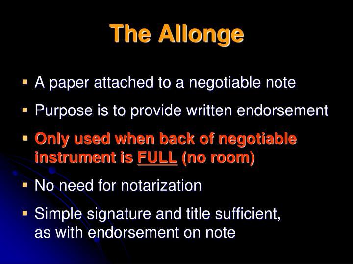 The Allonge
