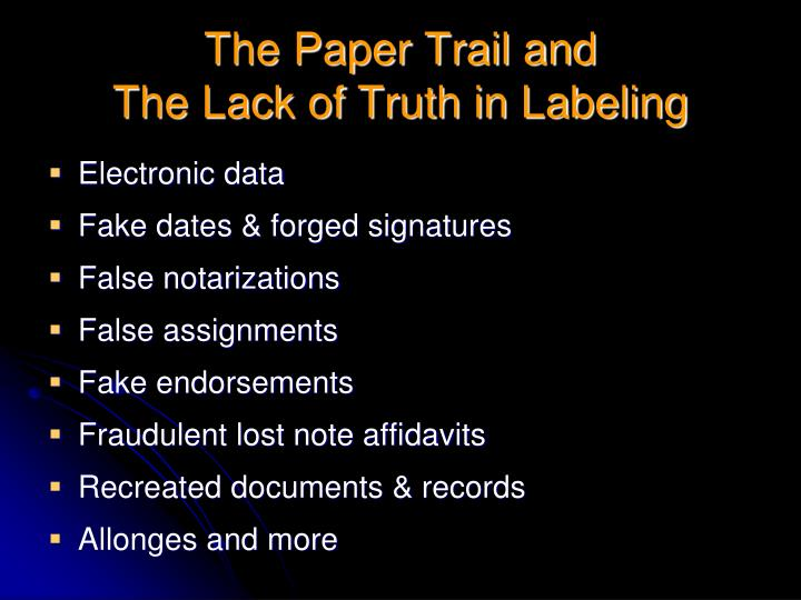 The Paper Trail and