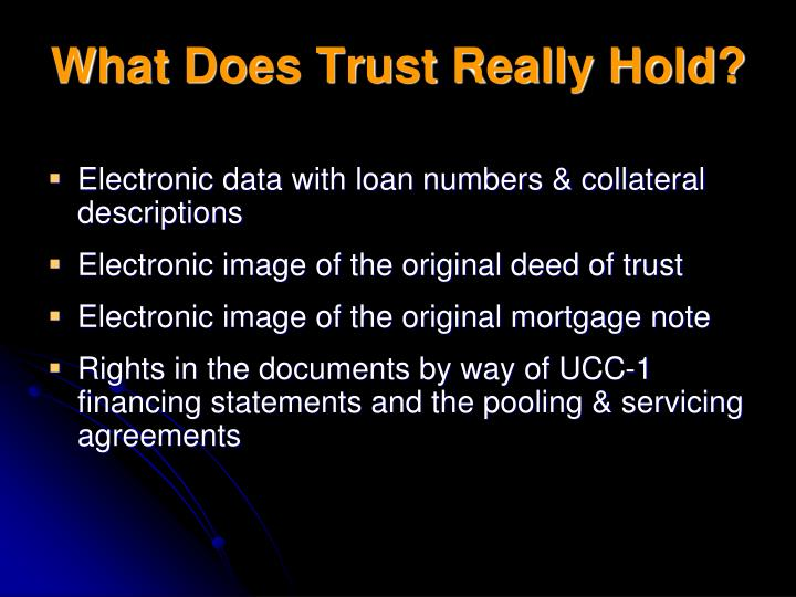 What Does Trust Really Hold?
