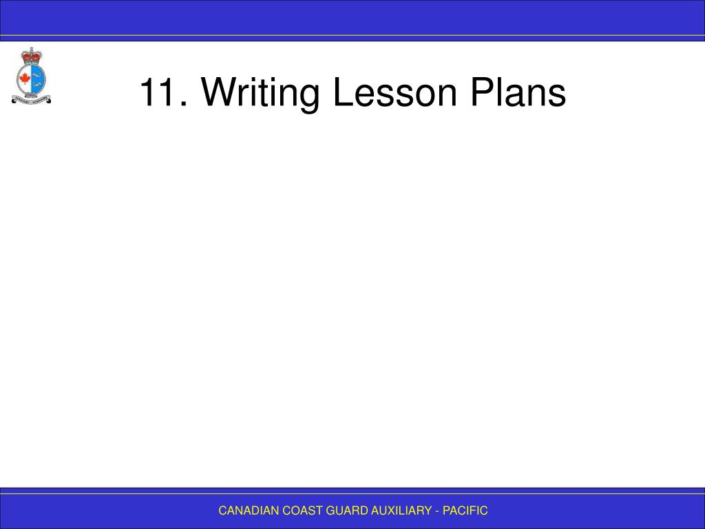 11. Writing Lesson Plans