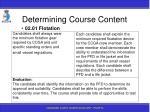 determining course content85