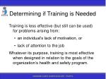 determining if training is needed44
