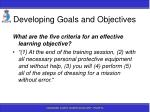 developing goals and objectives63