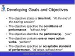 developing goals and objectives64