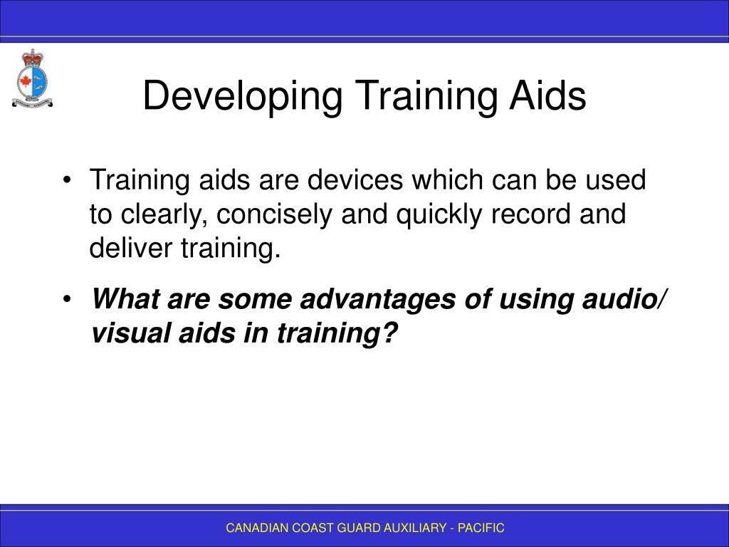 Developing Training Aids