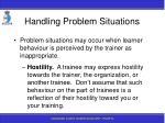 handling problem situations163