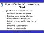 how to get the information you need54