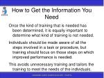 how to get the information you need57
