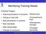 identifying training needs50