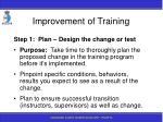 improvement of training188