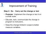 improvement of training189