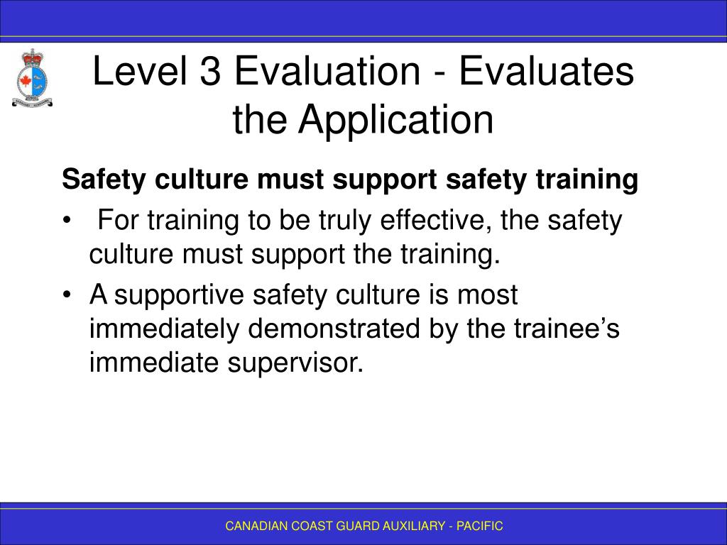 Level 3 Evaluation - Evaluates the Application