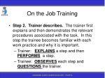 on the job training92