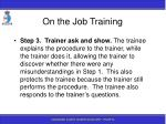 on the job training93