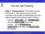 on the job training95