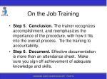 on the job training96