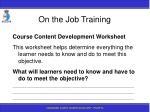 on the job training97