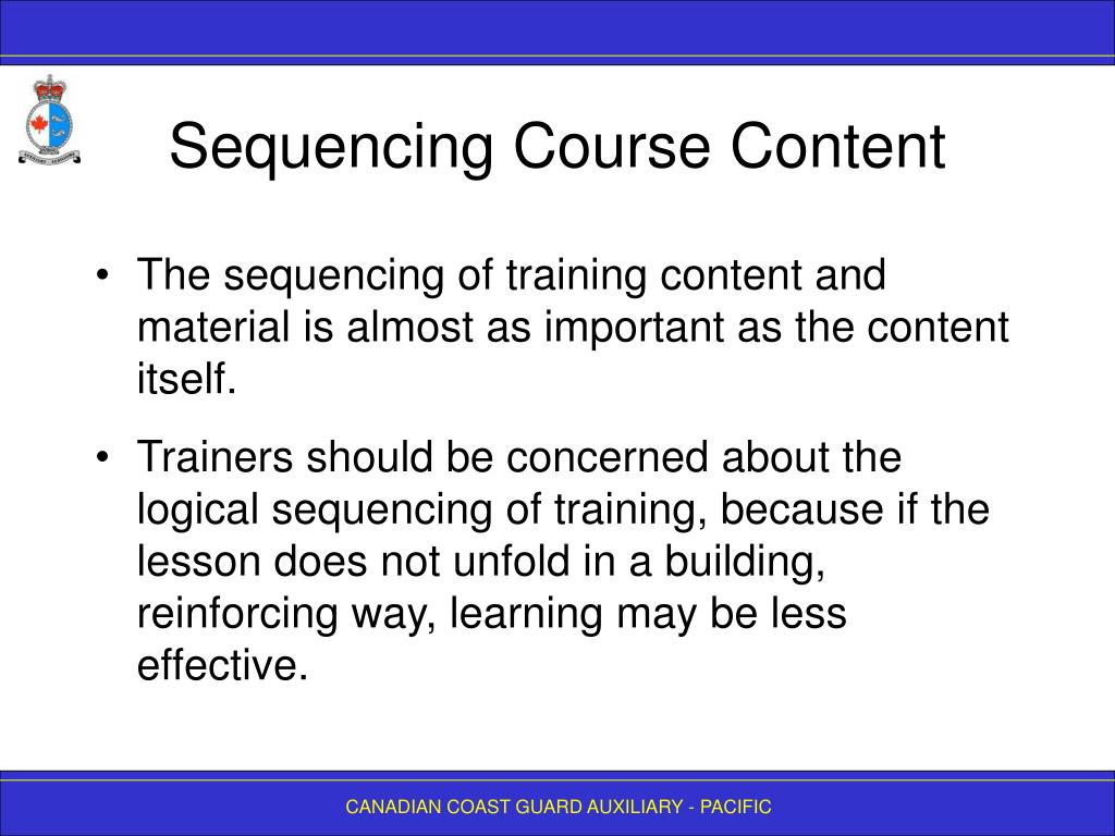 Sequencing Course Content