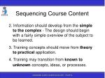 sequencing course content89
