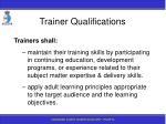 trainer qualifications29